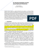 Blunter, Reinhard. (2006) Optimality Theoretic Pragmatics and the ExplicatureImplicature Distinction. Institute for Logic, Language and Computation.