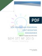 SOP Pengajuan Pendirian UKM 2015