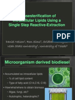 2010 IBE Transesterification of Intracellular Lipids Using a Single Step Reactive-Extraction