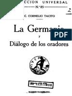 TÁCITO - La Germania; Diálogo de los oradores ilustres.pdf