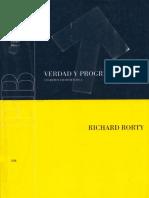 Rorty - Verdad y Progreso (completo)