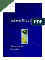 Clase Examen de Orina Completo
