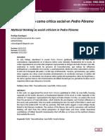 El Pensar Mítico Como Crítica Social en Pedro Páramo