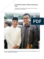 Seminar Motivasi April 2018, Seminar Motivasi Semarang, Slide Seminar Motivasi