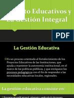 Proyecto Educativos y La Gestión Integral