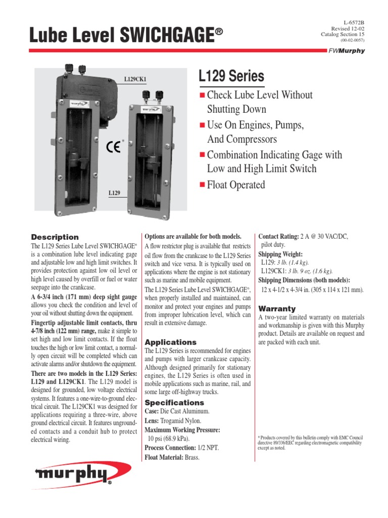Murphy Switch Wiring Diagram L129 Schematics Diagrams Lube Level Swichgage Lubricant John Deere Stx38 Schematic