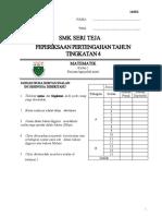 Mathe Midle Year 2017 Form 4