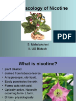 Pharmacology of Nicotine
