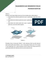 Pembelajaran5 Nilai Maksimum Dan Minimum Fungsi Peubah Banyak
