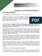 171011_Vers Un Scénario d'Alliance Entre Riyad Et Moscou Au Moyen-Orient - Essai de Prospective