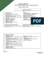 Analiza Swot Comisie Metodica 20142015