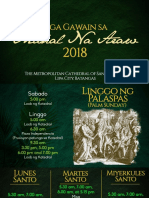 Patalastas for Holy Week