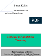 Statistics for Analytical Chemistry
