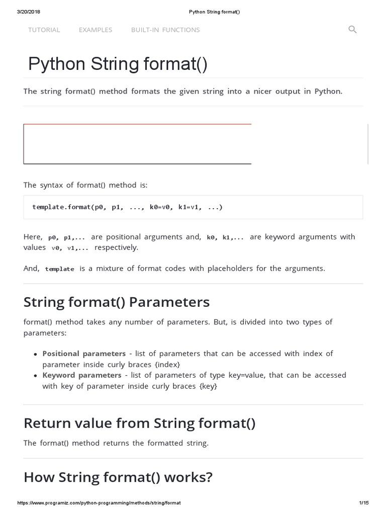 Python string format parameter computer programming computer python string format parameter computer programming computer programming maxwellsz