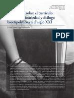 Reflexiones Sobre El Curriculo Transdisciplinariedad y Dialogo Bioetipolitico