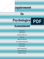 Psychological Assessment Objective Tests
