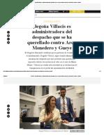 El Salto - Begoña Villacís Es Administradora Del Despacho Que Se Ha Querellado Contra Arce, Monedero y Gueye - Madrid