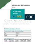 Menampilkan Data Di Database MySQL Pada JTable Netbeans