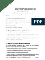 ASPECTOS A TENER EN CUENTA EN LA IMPLANTACIÓN Y USO METODOLÓGICO DE LA PIZARRA DIGITAL INTERACTIVA (PDI)