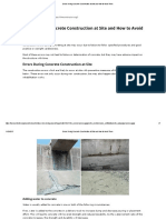 Errors During Concrete Construction at Site - DH - اخطاء شائعة وصب الخرسانة المسلحة والموقع