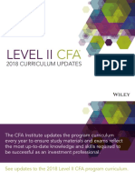 CFA Level2 2018 Curriculum Updates