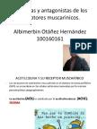Agonistas y Antagonistas de Los Receptores Muscarinicos Albin