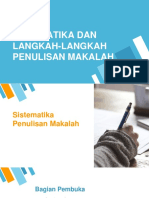 Sistematika Dan Langkah-langkah Penulisan Makalah