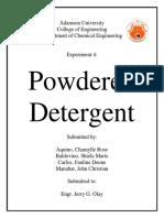 Powdered Detergent