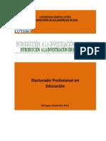 2 MOD 1 CURSO 2 Introducción Investigación Educativa 24-11-15