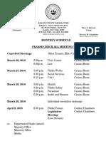 2018 March -April Schedule
