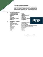 Acta de Adjudicacion 2017