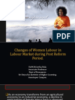 Changes of Women Labour in Labour Market During Post Reform Period
