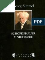 Georg Simmel - Schopenhauer y Nietzsche