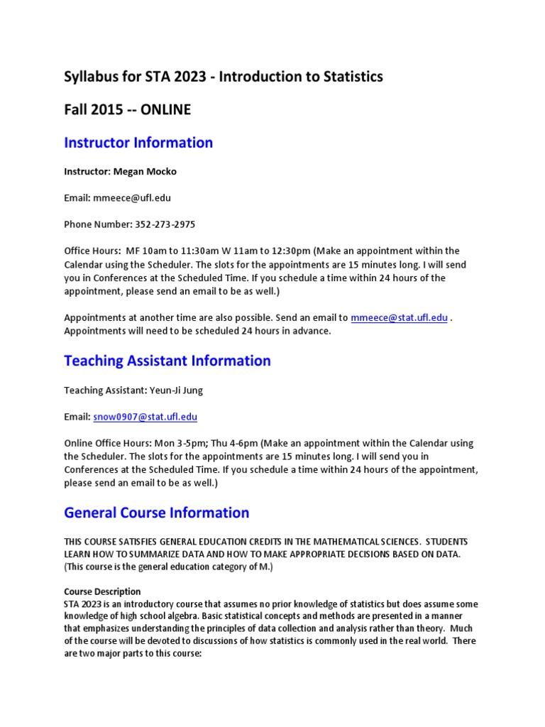 Syl lab us sta 2023 fall 2015 homework statistics fandeluxe Gallery
