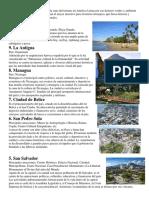 sitios turisticos centroamerica