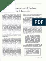 E.G. West - Los Economistas Clásicos y La Educación
