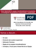 Como Desarrollar Un Equipo Transdisciplinario Dr Alberto Caban M