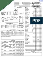 Lorth character sheet