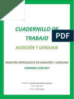 Cuaderno de Trabajo de Audicion y Lenguaje