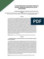 EVALUACIÓN DE LA SUSTENTABILIDAD DE SISTEMAS AGRÍCOLAS DE FINCAS EN MISIONES, ARGENTINA, MEDIANTE EL USO DE INDICADORES Sarandon Et Al 2006