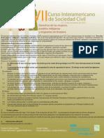 Afiche Informativo VII Curso Inter America No de Sociedad Civil