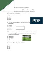 Examen de Admision 7º Basico 2018 - Copia