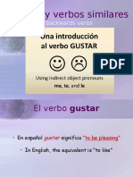 4 power point lesson on gustar