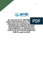 Pliego de Condiciones Volumen I -SP Amb-071-17