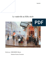 Le Vaudeville Au XIXe Siècle