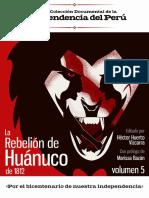 La rebelión de Huánuco de 1812. Héctor Huerta Urtado. 2018.pdf