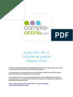 Sujet 2015 Dcg Ue11 Controle de Gestion