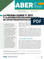 Edicion 24 - La Prueba Saber 11 2017 y La Distribucion Sociodemografica de Los Estudiantes Evaluados
