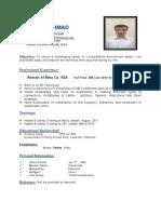 Farooq Ahmad CV