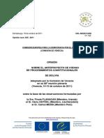 Respuesta a la petición de Héctor Arce Zaconeta hecha a la Comisión de Venecia